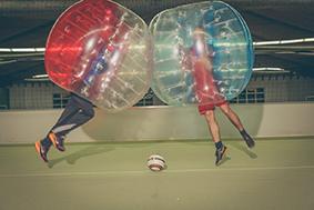 Unsere Kindergeburtstage sind auch mit Bubble Fußball buchbar!