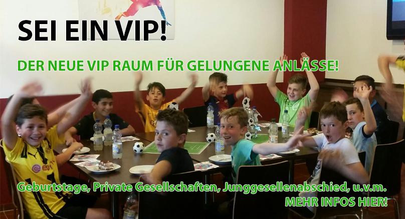 Infos zu Der neue VIP - Raum!