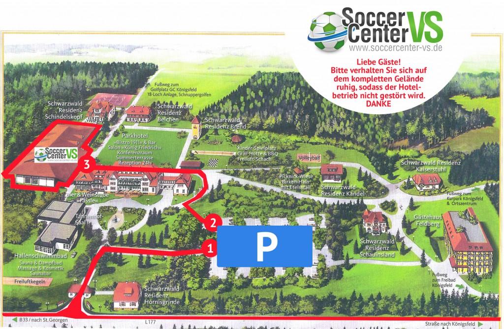 wegbeschreibung soccercenter vs